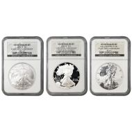 2006 American Silver Eagle 20th Anniversary Set - NGC 69