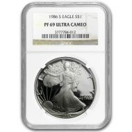 1986 American Silver Eagle - NGC PF 69