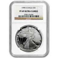 1990 American Silver Eagle - NGC PF 69