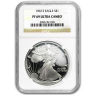 1992 American Silver Eagle - NGC PF 69