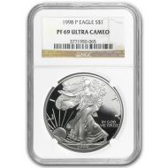 1998 American Silver Eagle - NGC PF 69