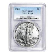 1988 American Silver Eagle - PCGS MS 69
