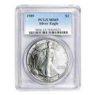 1989 American Silver Eagle - PCGS MS 69