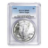 1990 American Silver Eagle - PCGS MS 69
