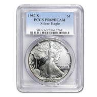 1987 American Silver Eagle - PCGS PF 69
