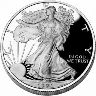 1991 American Silver Eagle - Proof (Coin Only)