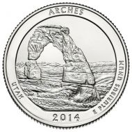 2014 Arches - P Roll (40 Coins)