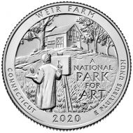 2020 Weir Farm National Historic Site - D Roll (40 Coins)