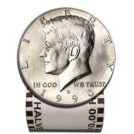 1990 D Kennedy Half Dollar - BU Roll