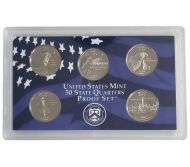 2007 United States 50 State Quarter Proof Set - Coins Only