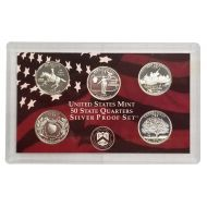 1999 United States 50 State Quarter Silver Proof Set - Coins Only