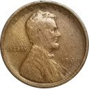 1909 S Lincoln Wheat Penny - VF (Very Fine)
