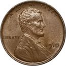 1910 Lincoln Wheat Penny - AU (Almost Uncirculated)