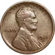 1912 D Lincoln Wheat Penny - XF (Extra Fine)