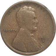1912 S Lincoln Wheat Penny - G (Good)
