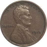 1913 Lincoln Wheat Penny - XF (Extra Fine)