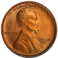 1934 Lincoln Wheat Penny - Brilliant Uncirculated