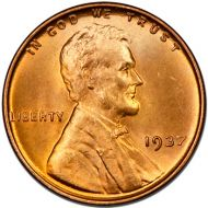 1937 Lincoln Wheat Penny - Brilliant Uncirculated