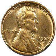 1937 S Lincoln Wheat Penny - Brilliant Uncirculated