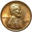 1939 D Lincoln Wheat Penny - Brilliant Uncirculated