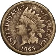 1863 Indian Head Penny - VG (Very Good)
