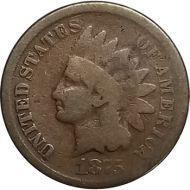 1875 Indian Head Penny - G (Good)