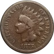 1875 Indian Head Penny - VG (Very Good)