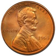 1963 Lincoln Memorial Penny - Brilliant Uncirculated