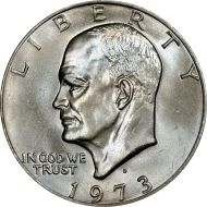 1973 D Eisenhower Dollar - Brilliant Uncirculated