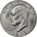 1973 S Eisenhower Dollar - Blue Ike - 40% Silver
