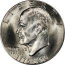 1976 D Eisenhower Dollar Type 1 - Brilliant Uncirculated