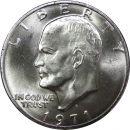 1971 S Eisenhower Dollar - Brilliant Uncirculated - 40% Silver