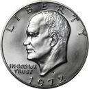 1972 S Eisenhower Dollar - Brilliant Uncirculated - 40% Silver