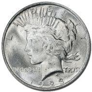 1923 D Peace Dollar - (BU) Brilliant Uncirculated