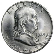 1949 D Franklin Half Dollar - Brilliant Uncirculated