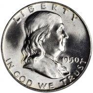 1950 D Franklin Half Dollar - Brilliant Uncirculated