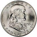 1955 Franklin Half Dollar - Brilliant Uncirculated