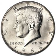 1966 Kennedy Half Dollar - SMS (Special Mint Set)