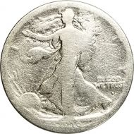 1916 S Obverse Walking Liberty Half Dollar - About Good