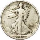1918 D Walking Liberty Half Dollar - F (Fine)