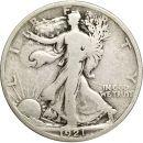 1921 Walking Liberty Half Dollar - VG (Very Good)