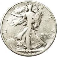 1929 D Walking Liberty Half Dollar - F (Fine)