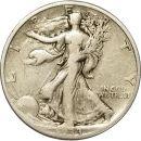 1933 S Walking Liberty Half Dollar - F (Fine)