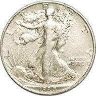 1938 Walking Liberty Half Dollar - XF (Extra Fine)