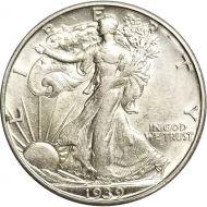 1939 D Walking Liberty Half Dollar - AU (Almost Uncirculated)