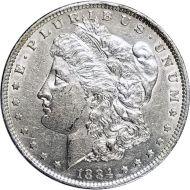 1884 O Morgan Dollar -  (AU) Almost Uncirculated