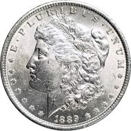 1889 Morgan Dollar -  (AU) Almost Uncirculated