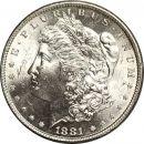 1881 S Morgan Dollar - (BU) Brilliant Uncirculated