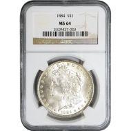 1884 Morgan Dollar - NGC MS 64