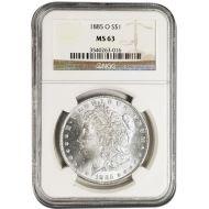 1885 O Morgan Dollar - NGC MS 63
